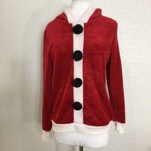 Santa Claus Hooded Pullover Christmas Junior 7/9 M